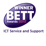 Joskos Solutions wins at the BETT 2012 Awards in the 'Best Provider of ICT Service and Support' Category